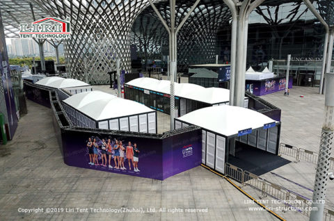 White Modular Tent Structure