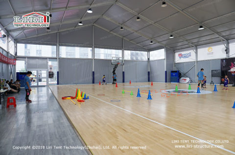 basketball court with cover