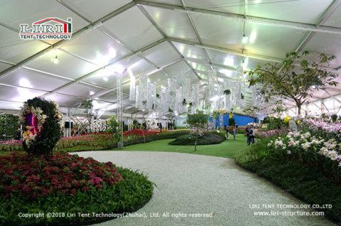 outdoor flower tent