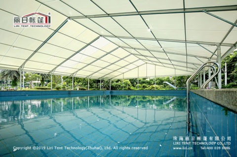 swimming pool marquee tent