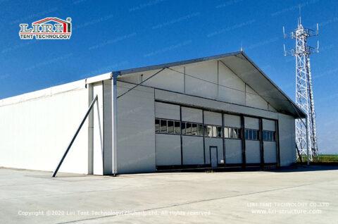 temporary aircraft hangar