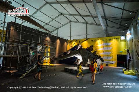 dinosaur exhibit tent