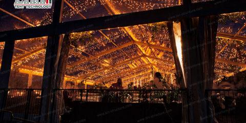 luxury wedding tent party
