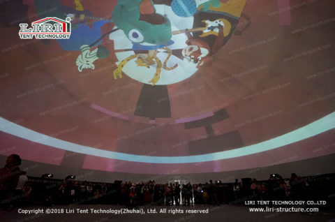 Geodesic Domes Projection Mapping