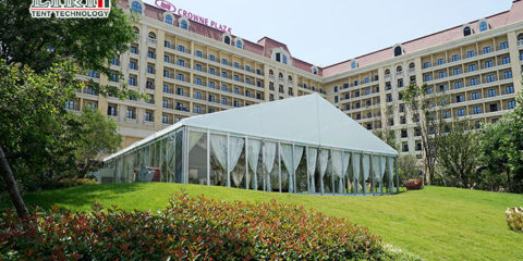 glass wedding tent