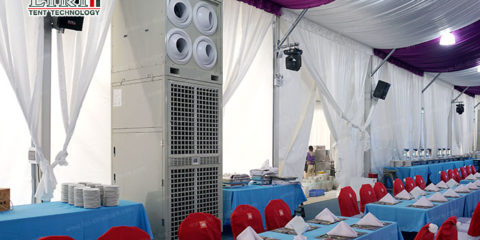 air conditioner in the tent