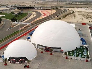 60m Geodesic Dome Tent for F1 Bahrain Grand Prix