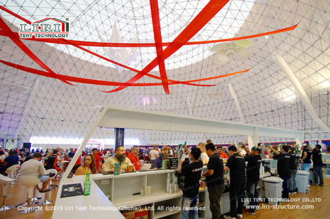 Geodesic Event Domes
