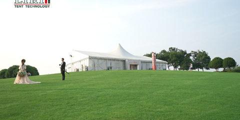 Lawn wedding tent