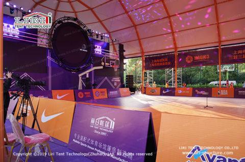 basketball covered court design