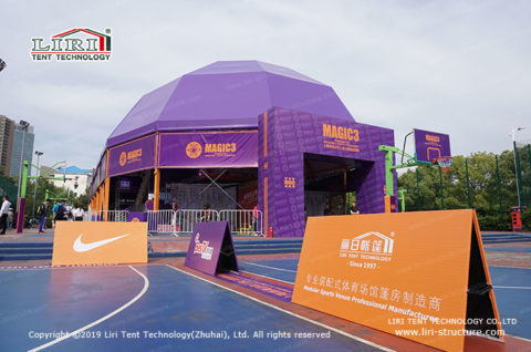 how to build a covered basketball court