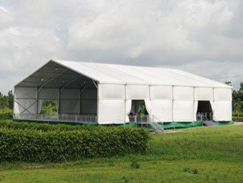 White Event Tent for Groundbreaking Ceremony