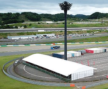 Outdoor Event Tent Rental for Ferrari Challenge