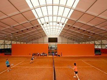 Indoor Clay Tennis Court