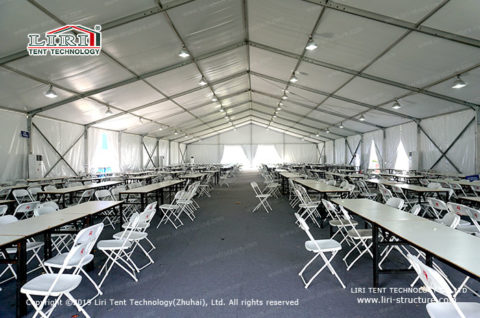 Semi Permanent Frame Tent for Staff Cantee