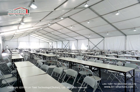 canteen area of the tent