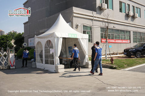 COVID 19 screening tent
