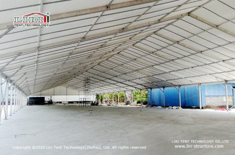Clear Span Structure for Temporary Storage