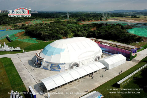 Large White Marquee Tent