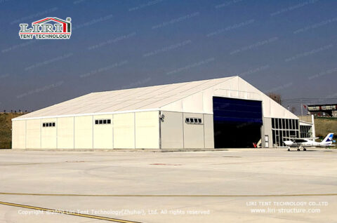 fabric structure for drone hangar 1