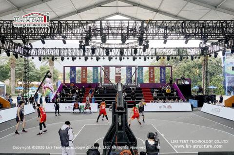 indoor basketball court sport court