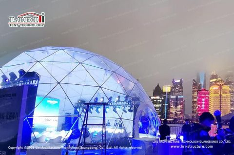 Clear Geodesic Dome Structure for Sale