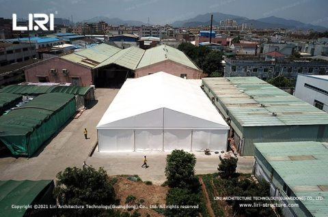 Large Temporary Warehouse Structures