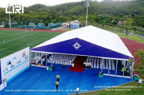 ceremony in open marquee