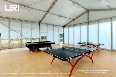 Indoor table tennis court