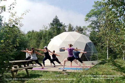 Outdoor Yoga Domes