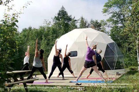unique yoga domed room design